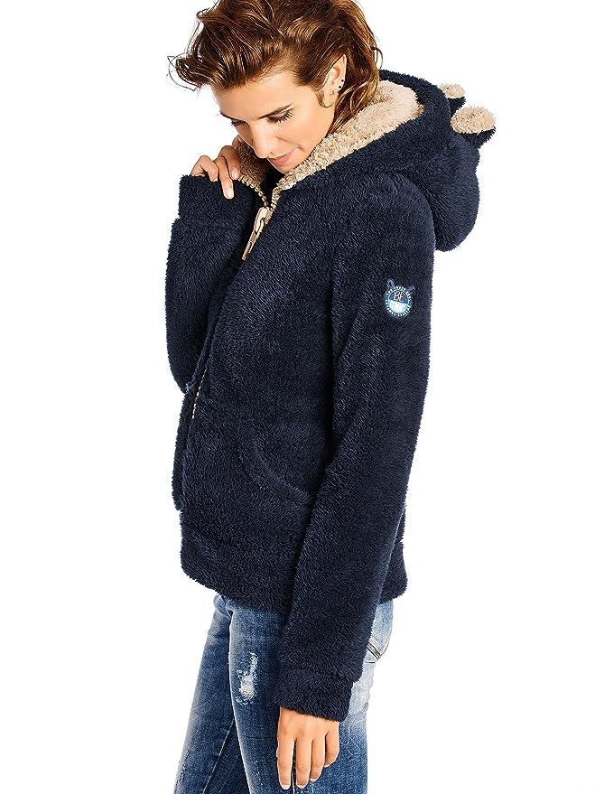 BeGummy - Veste Capuche Ours - Fluffy - Fille - Bleu Marine (contraste beige)  , 11-12 Ans  Amazon.fr  Vêtements et accessoires aa8edf079106