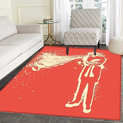 Amazon Com Funny Rugs For Bedroom Trippy Man Screaming Big Mouth