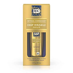 RoC Retinol Correxion Deep Wrinkle Facial Serum, Anti-Wrinkle Treatment Made with Retinol, 1 fl. oz