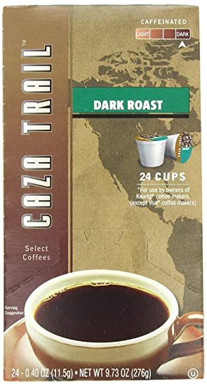 Amazon.com : Caza Trail Single Serve Coffee for Keurig, Dark Roast, 24 Count (Pack of 4) : Grocery & Gourmet Food