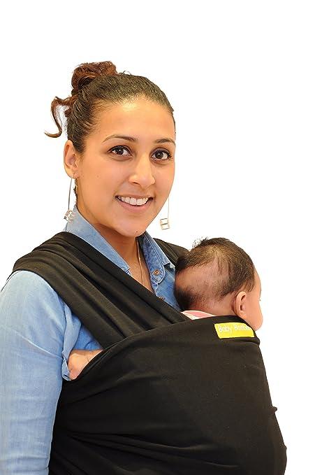 c776b84be39 Baby Booboo Sling Wrap - Baby Sling Carrier - Soft Newborn Ergo Carrier -  Great Premium Baby Shower Gift (Black)  Amazon.co.uk  Baby