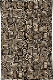 """product image for Etching Coal 5' 3"""" x 7' 6"""" Rectangle Machine Woven Rug"""