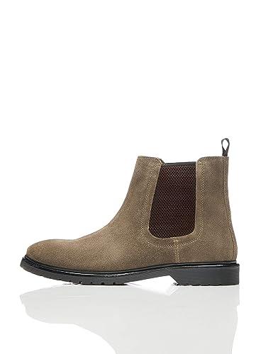 27fa204b87c76f find. Leather Cleated Herren Chelsea Boots  Amazon.de  Schuhe ...