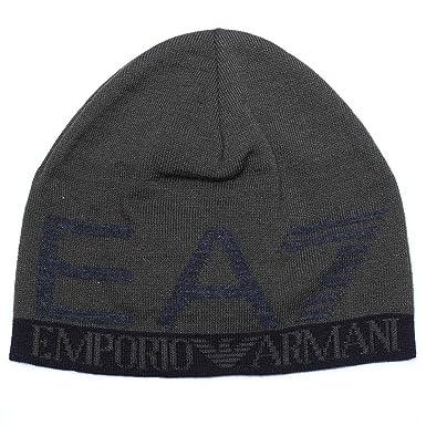Emporio Armani EA7 bonnet b eacute ret homme nouveau original train  visibility noir ... fa4ab6fc2fa
