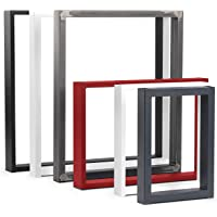 HOLZBRINK Tafelpoot van gesloten profilen 80x20 mm, tafelvoet 30x43 cm, Grijs antraciet, 1 stuk, HLT-01-C-AA-7016