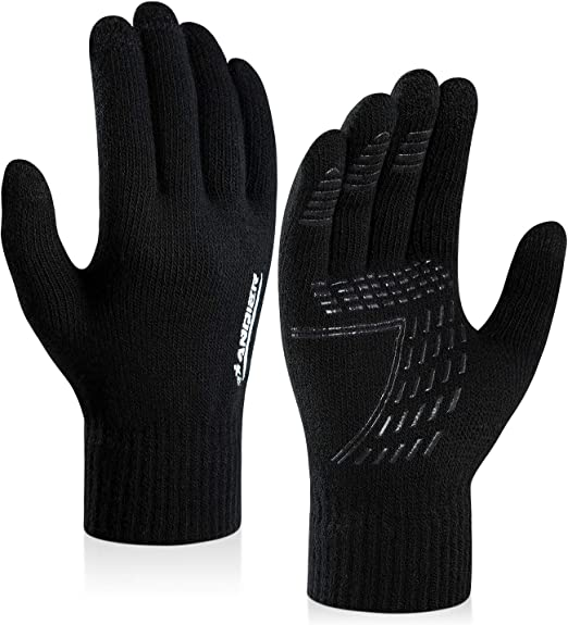 Outdoor-Sport Fellmanschette Reiten Thermo-Winterhandschuhe KXF Warme Winterhandschuhe f/ür Damen gestrickt Handschuhe f/ür Skifahren Touchscreen-Handschuhe Fahren Radfahren