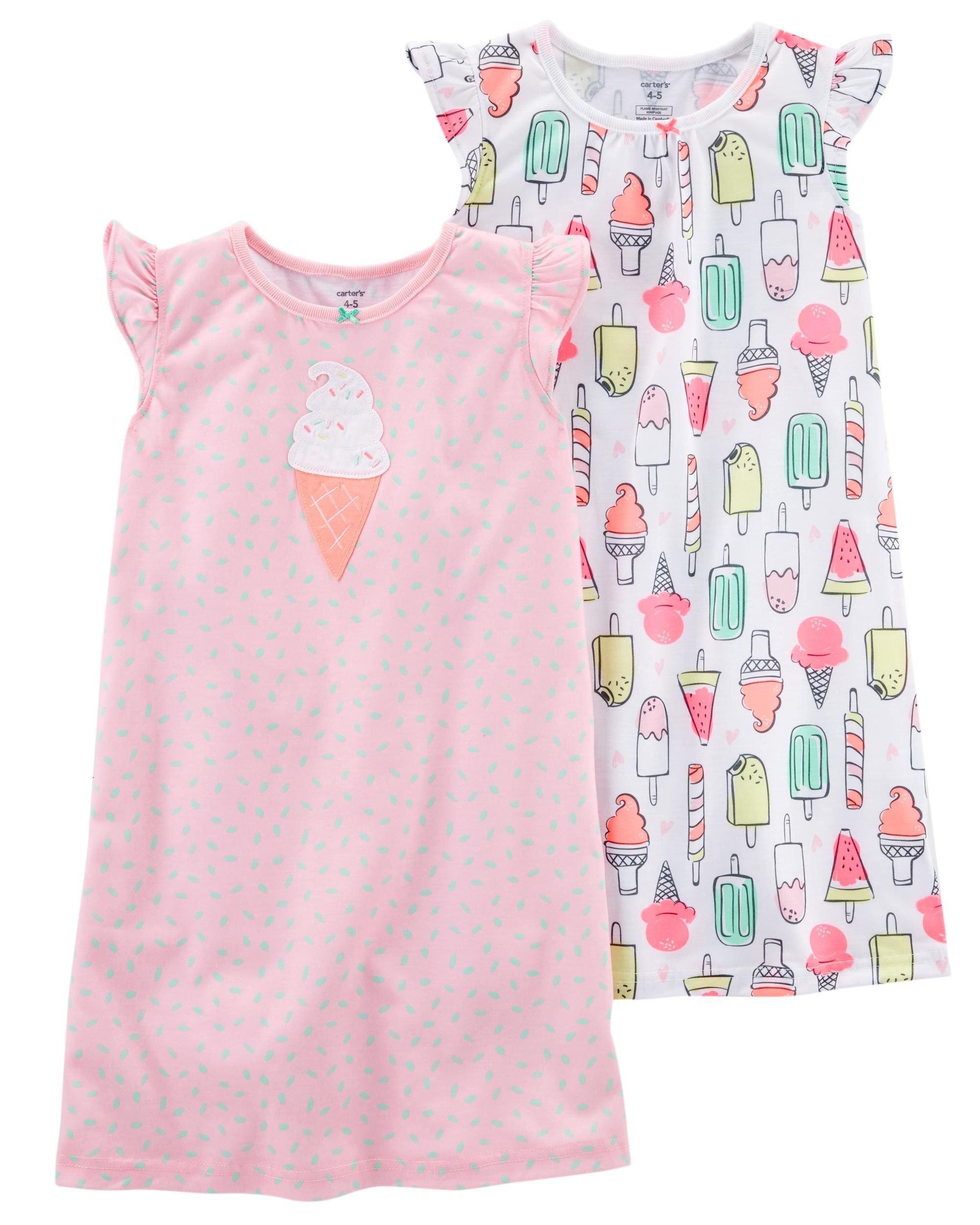 Carter's Girls 4-14 2-Pk. Ice Cream Print Sleep Gowns 6/7