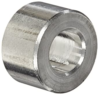 Plain Finish Round Spacer 1-1//4 Length #10 Screw Size 0.192 ID Pack of 10 Made in US 3//8 OD Aluminum