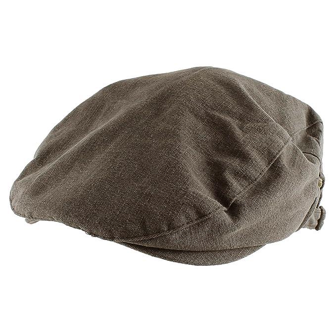 Morehats Canvas Newsboy Cap Gatsby Golf Hat - Charcoal at Amazon ... ef9578b3087