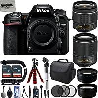 Nikon D7500 20.9MP 4K DSLR Camera w/ 4 Lens - 18 to 200mm - 64GB - 30PC Kit - Nikon 18-55VR + Nikon 55-200VR + Opteka 2.2X Telephoto Lens + Opteka 0.43x Wide/Macro Lens