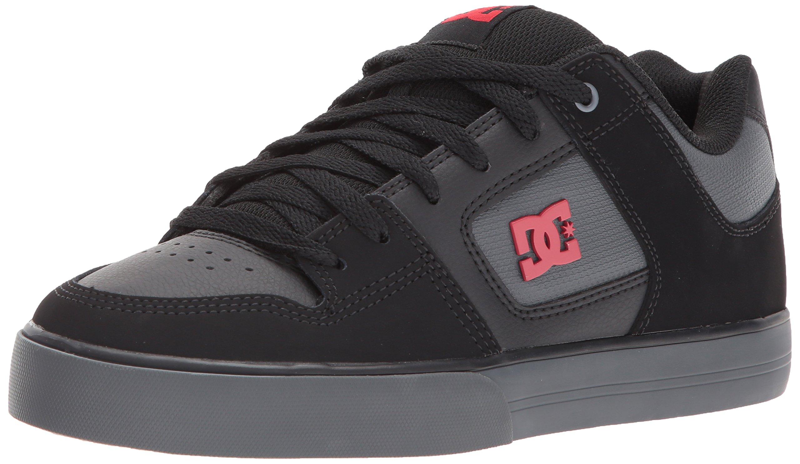 DC Men's Pure SE Skate Shoe, Dark Shadow/True Red, 10 D D US