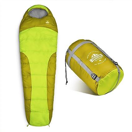 Lumaland Outdoor saco de dormir, ca. 230 x 80 cm, bolsa de transporte