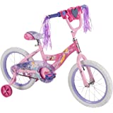 """Disney Princess 16-inch Bike by Huffy, Recommended for Ages 4-6 & Ideal for a Rider Height of 42-48 inches, with Cool """"Magic Mirror"""" Accessory that Lights Up to Reveal a Disney Princess, Style 21977"""