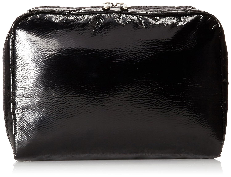 LeSportsac Classic Extra Large Rectangular Cosmetic Case BLACK CRINKLE PATENT One Size LeSportsac Luggage 7121