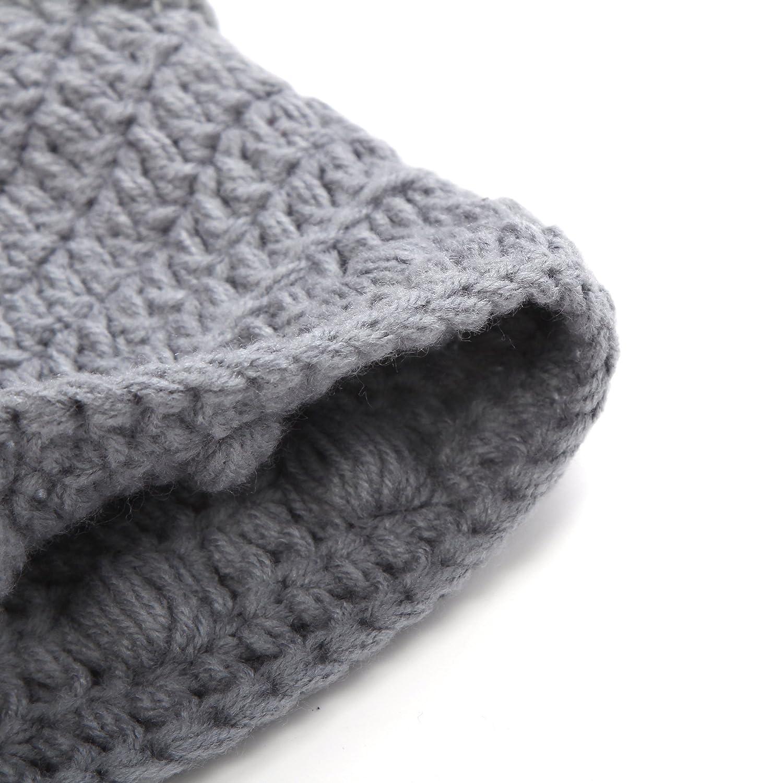 ad4bb6f77 YPS Cute Bull Horn Beanie Cap Handmade Knitted Crochet Viking Beanie: Amazon .co.uk: Clothing