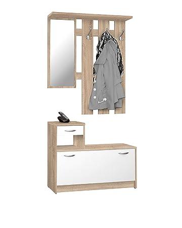 Schwarz Garderobe Diele Garderobenschrank Schuhschrank Spiegel Rudolf Weiss