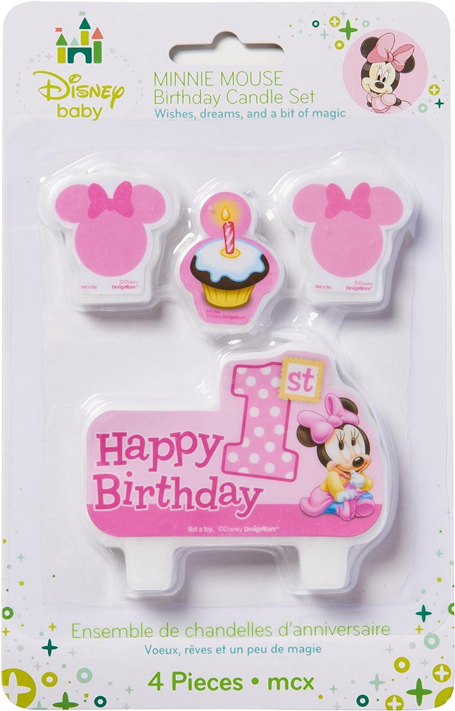 Amazon.com: American Greetings Minnie Mouse 1er Cumpleaños ...