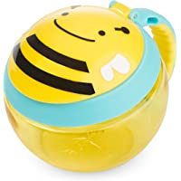 Skip Hop Baby Zoo Little Kid and Toddler Snack Cup with Snap Top Lid and No Spill Opening Multi, Brooklyn Bee