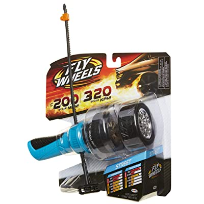 Fly Wheels Launcher + 2 Street Wheels - Rip it up to 200 Scale MPH, Fast Speed, Amazing Stunts & Jumps up to 30 feet! All Terrain Action: Dirt, Mud, Water, Snow- One of The Hottest Wheels Around!: Toys & Games