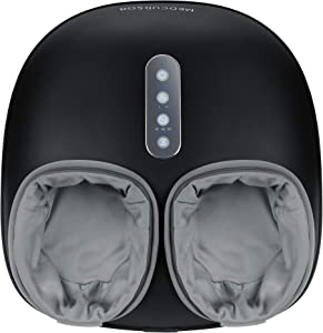 Medcursor Electric Shiatsu Foot Massager Machine with Soothing Heat, Deep Kneading Therapy for Foot Pain and Circulation, Multi-Level Settings & Air Compression, for Home or Office Use