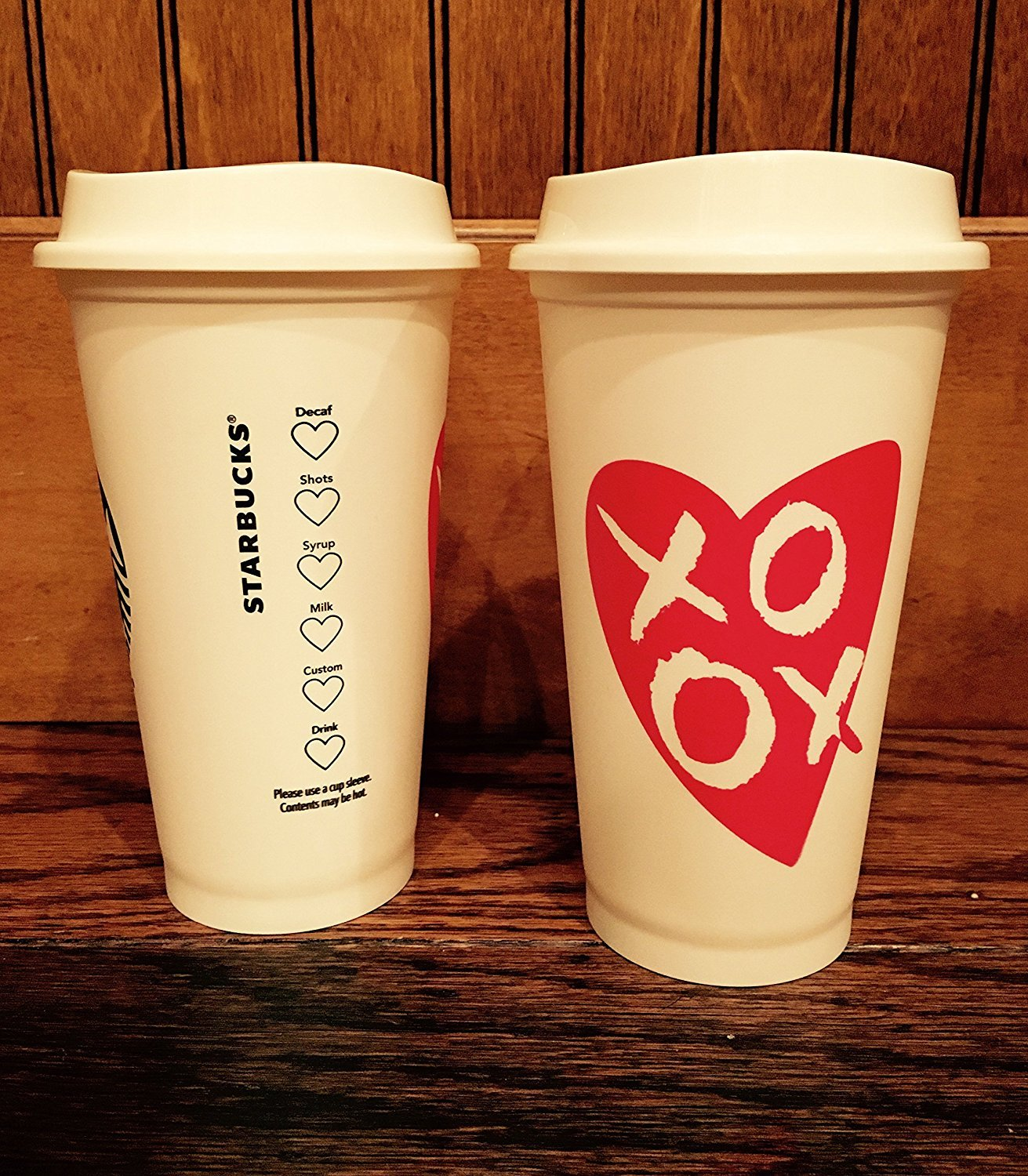Amazon.com | Starbucks Valentines Day LE Reusable Cup: Coffee Cups ...