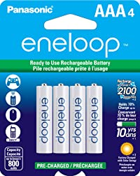 Panasonic Eneloop AAA Cycle Ni-MH Pre-Charged Rechargeable Batteries