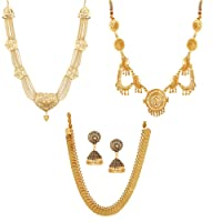 GoldPlated Alloy Value Pack Necklace Combos by AWWW