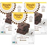 Simple Mills Almond Flour Baking Mix, Gluten Free Brownie Mix, Easy to make in Brownie Pan, Chocolate Flavor, Made with whole