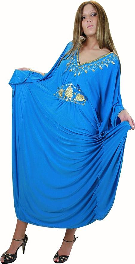 MISSINDYA Robe Dubai Cape Oriental Caftan Abaya Papillon Farasha Rose Dore
