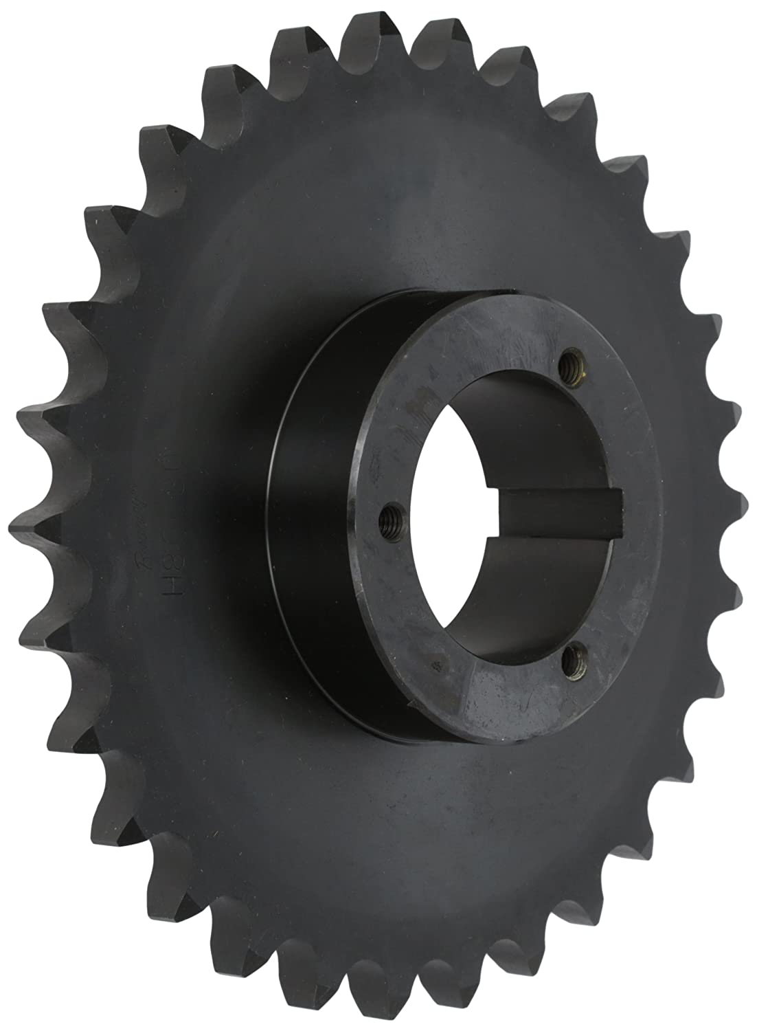 Browning H80Q30 Roller Chain Sprocket, Single Strand, Split Taper, Bushed, Hardened Steel, 80 Pitch, 30 Teeth Emerson