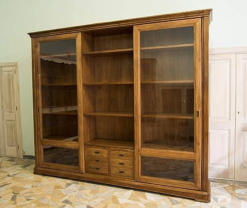 Ebanisteria Gambella - Librería con puertas correderas: Amazon.es: Handmade