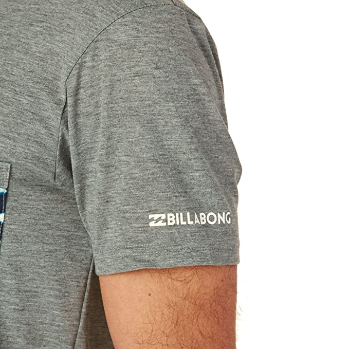 Billabong 2017 Team Pocket Short Sleeve Surf tee Grey Heather C4EQ01: Amazon.es: Deportes y aire libre