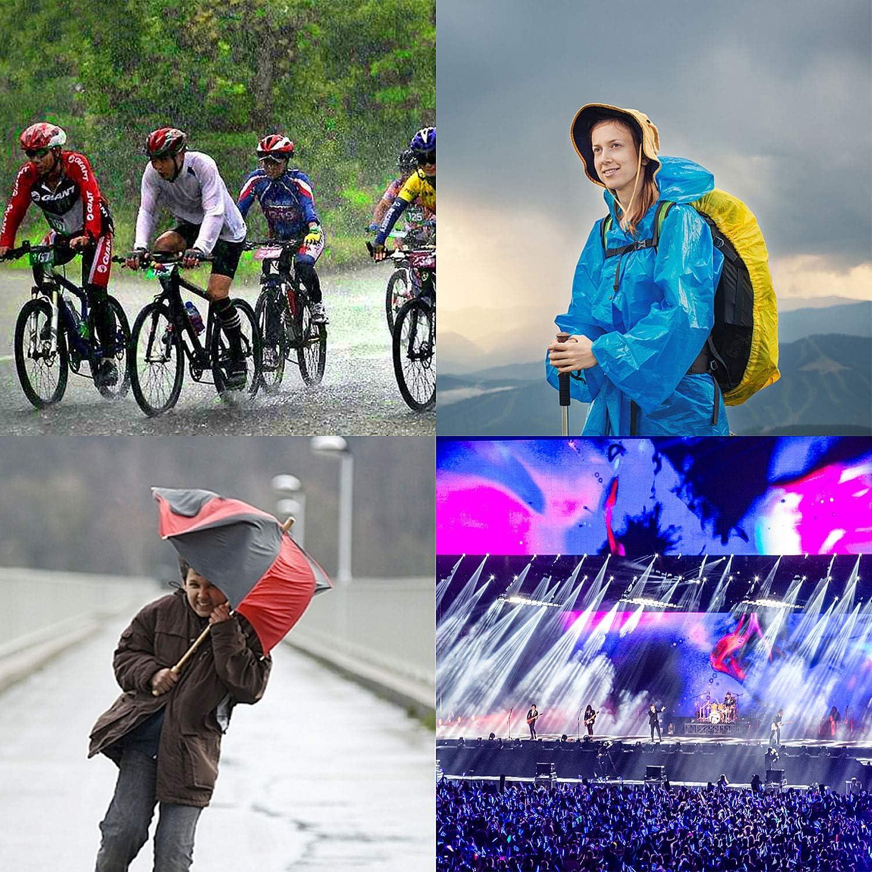 Geeignet f/ür M/änner//Frauen,Regencape Regenponcho Tompig Regenponcho Transparent Regenmantel Regencape Regenjacke,Wasserdichter Outdoor Regen Poncho Wandern Radfahren Camping und Festivals usw