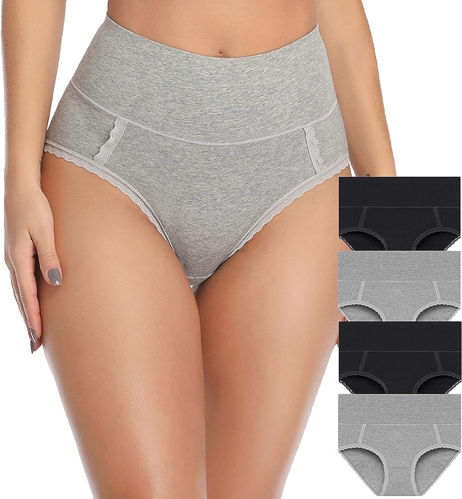 Ropa interior de algodón para mujer de cintura alta, bragas de ...