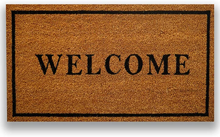 """Coir Doormat with Heavy-Duty PVC Backing 18/"""" x 30/"""" By Catalina Home"""