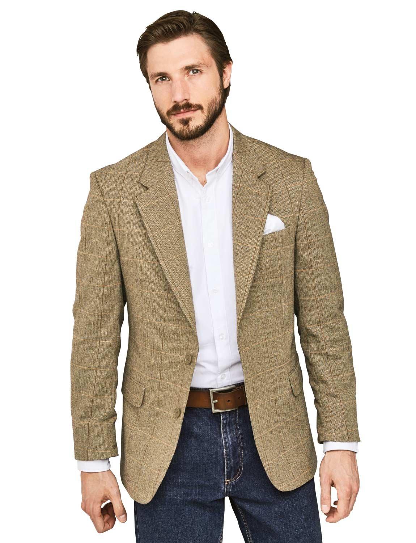 Fittingroom Mens Woolmix Herringbone Tailored Jacket Blazer Brown 38R by Fittingroom (Image #1)