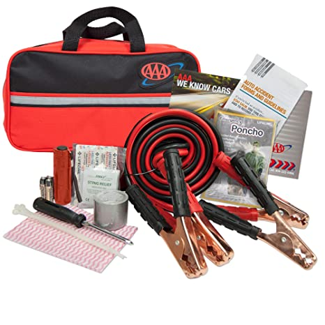 8cd0a41c197f27 Amazon.com: Lifeline 4330AAA Black AAA Premium Road, 42 Piece Emergency Car  Jumper Cables, Flashlight and First Aid Kit: Automotive