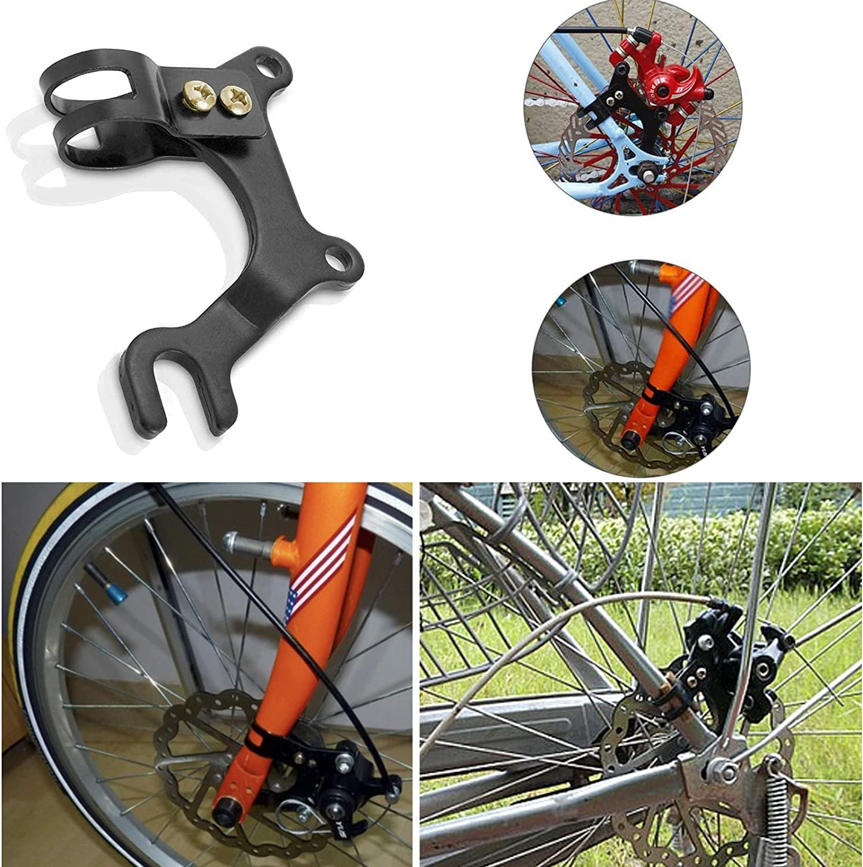 Adaptador de Freno de Disco 160 mm 22 mm Negro Soporte de Freno para Bicicleta de Carretera MTB Wohlstand 2 Piezas Soporte de Freno de Disco para Bicicleta Soporte Adaptador de Freno