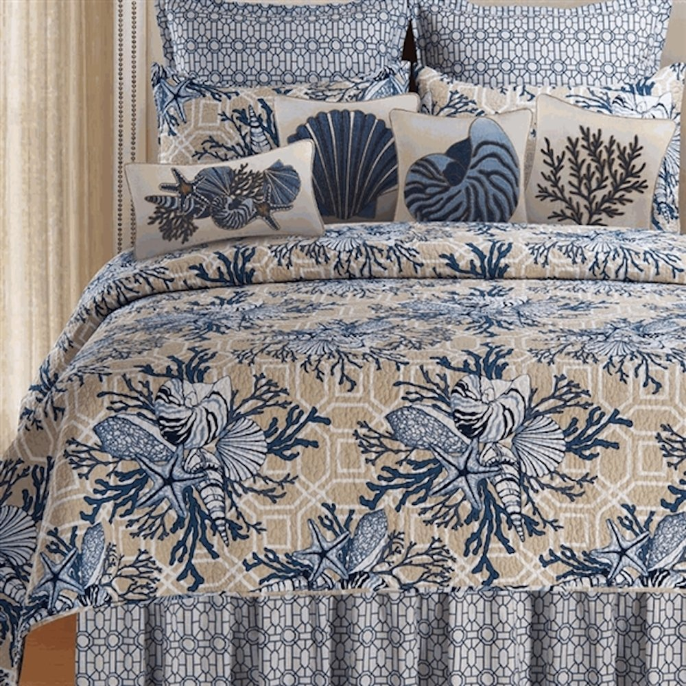 Indigo Sound King Quilt by C & F