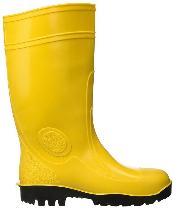 Botas de trabajo de prevención de accidentes en amarillo S5 PVC con puntera y el laminado- 6206401Y: Amazon.es: Bricolaje y herramientas