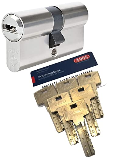 ABUS Bravus, 4000 Suite de seguridad - con cilindro doble con 6 llaves, longitud 50/50 mm ...
