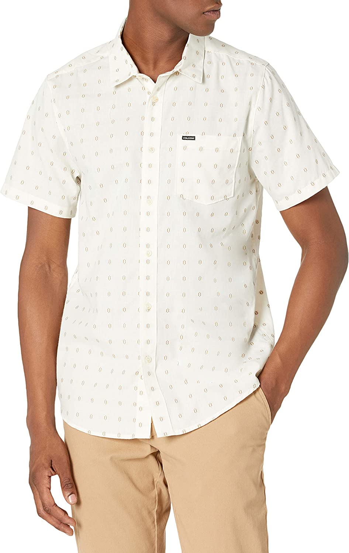 Volcom Men's Milton Short Sleeve Button Down Shirt: Clothing