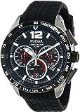 Pulsar Pu2021 Chronograph Carbon Fiber Dial Black Men's Watch [並行輸入品]