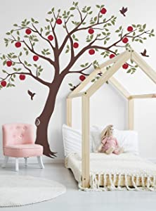 Apple Tree with Hummingbirds Wall Decal - by Simple Shapes® (Scheme A)