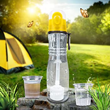 Jetery BPA Free Sport Water Bottle with Filter