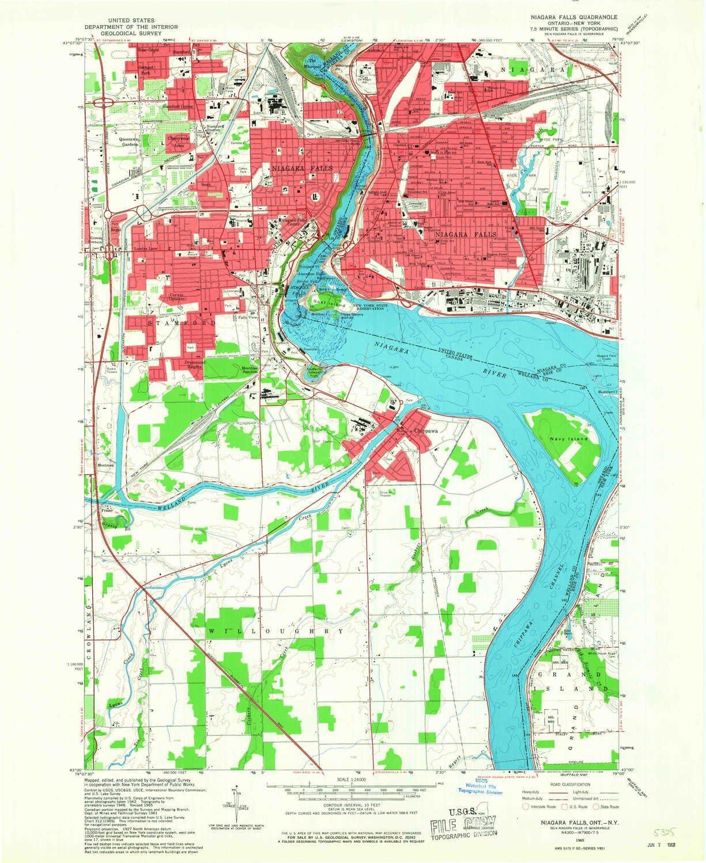Amazon Com Yellowmaps Niagara Falls Ny Topo Map 1 24000