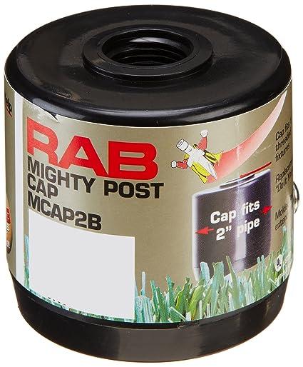 "RAB Lighting MCAP2B Mighty Post Cap for 2"" Pipe, 2-3/8&quot - RAB Lighting MCAP2B Mighty Post Cap For 2"