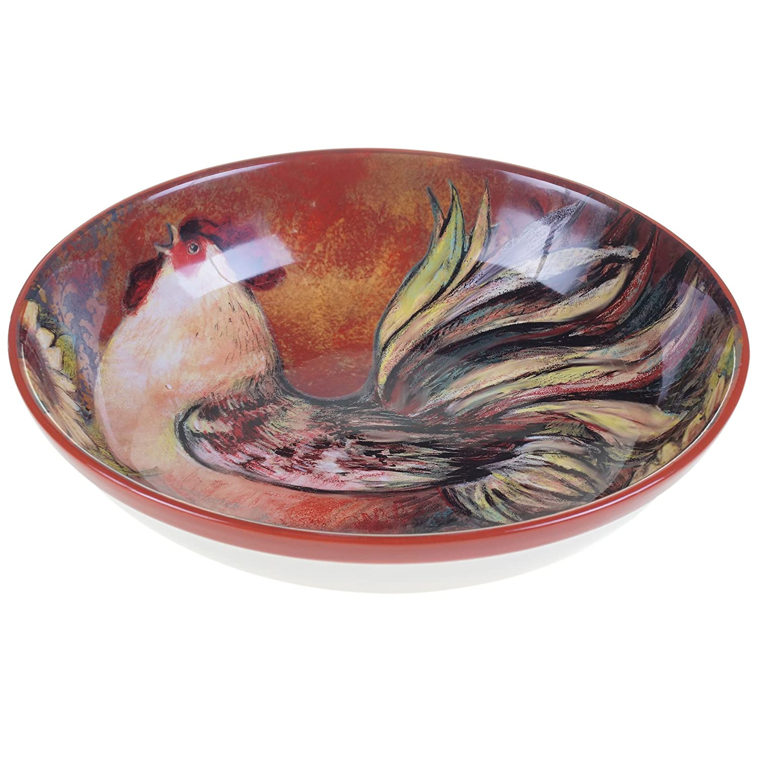 Certified International 17717 Sunflower Rooster Serving/Pasta Bowl, 13-Inchx3-Inch, Multicolor