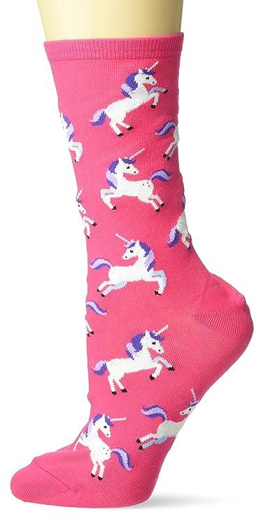 Hot Sox Women's Unicorn Series Novelty Casual Crew Socks