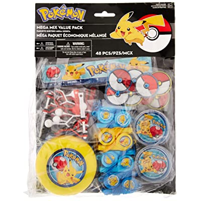 amscan Pokemon Mega Mix Value Pack, Party Favor: Toys & Games